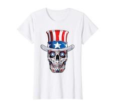 New Tee - Sugar Skull 4th of July T shirt Women Men Boys Fourth USA Wowen - $19.95+