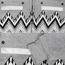 EKZ Men's Graphic Geo Tribal Fleece Lined Zip Up Sherpa Hoodie Jacket image 12