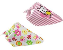 2 PCs Diligent Bee Saliva Towel Adjustable Baby Neck Scarf Neckerchief 1511""