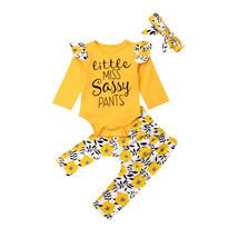0 24M Newborn Infant Baby Girls Clothes Little Miss Sassy Dasiy Romper T... - $11.99