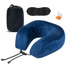 Neck Protective Travel Pillow, Ultra Comfort Memory Foam and Super Soft ... - $17.45+