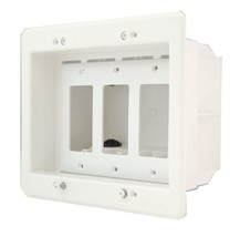 Arlington Industries DVFR3W-1 Wall Plate, 3 Gang, White - $20.98