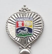 Collector Souvenir Spoon Venezuela Coat of Arms Crest - $14.99