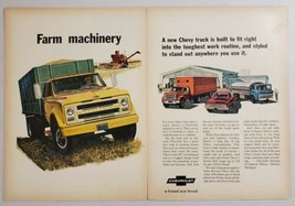 1967 Print Ad Chevrolet Trucks Farm Machinery Pickup,Stake,Semi Chevy - $12.85