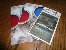 1973 1988 Buick Factory Color Chip Paint Samples Booklets - Three - $9.74