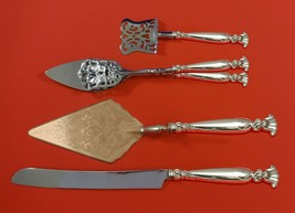 Romance of the Sea by Wallace Sterling Silver Dessert Serving Set 4pc Custom  - $399.00