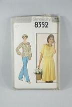 Simplicity Top Pants Skirt Sewing Pattern 8352 Vintage Cut - $5.88