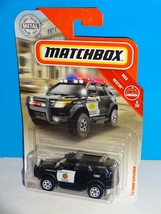 Matchbox 2019 MBX Rescue #58 '12 Ford Explorer Black San Diego CA Police - $3.00