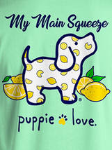 Puppie Love Rescue Dog Adult Unisex Short Sleeve Cotton Tee,Lemon Pup image 2