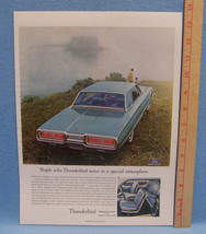 Vintage Holiday Magazine Ad for Ford Motor Thunderbird Unique in All the World - $5.93