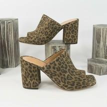 Dries Van Noten Leopard Suede Heels Mules Size 39.5 - $341.06