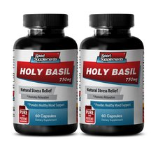 Antioxidant vitamins - HOLY BASIL EXTRACT 750Mg For Natural Stress Relie... - $23.95