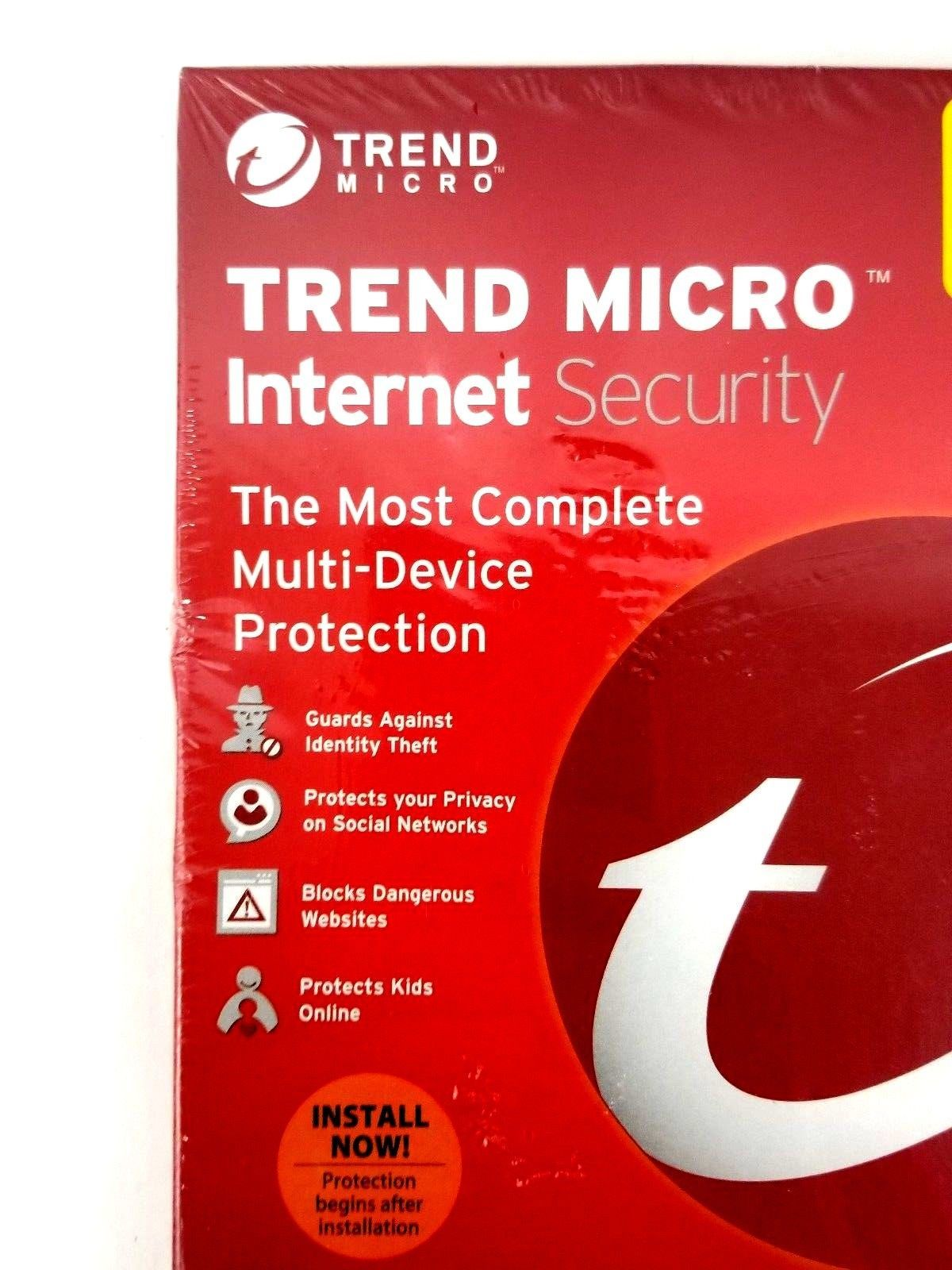 Trend Micro Internet Security 2016 Multi-Device Protection up to 3 Devices New