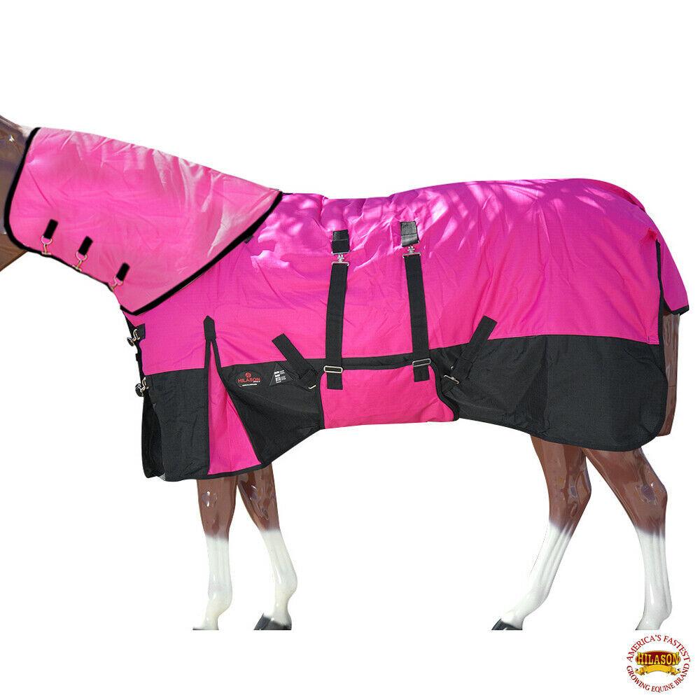 """72"""" Hilason 1200D Waterproof Winter Horse Blanket Neck Cover Belly Wrap U-D-72 - $114.99"""