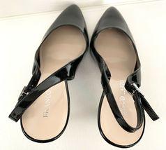 FRANCO SARTO Harla Black Patent Leather Slingback Pumps Heels SZ 8.5M image 9