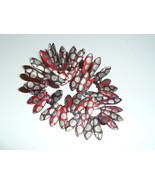 Wonderful Mix of Matte Reds w/ Peacock Finish Czech Glass Dagger Beads 5... - $9.99