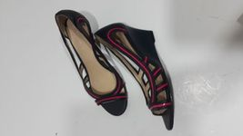 keith EUC black Charles and size and 36 pink shoes wedges leather 1q5agwZx