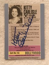 AUTOGRAPHED KITTY CARLISLE  Hollywood Trading Card  STARLINE Brand card ... - $12.95