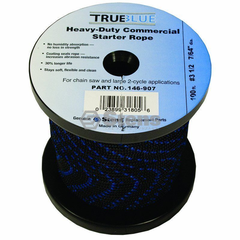 Primary image for 146-907 Stens 100' True Blue Starter Rope #3 1/2 Solid Braid