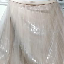 Women Blush Pink Tulle Maxi Skirt Blush Pink Sequin Tutu Mermaid Skirt Plus Size image 6