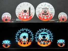 94-01 Acura Integra LS/RS Automatic AT Flame White Face Reverse Glow Gauges - $39.59