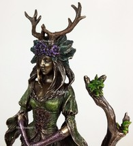 Antlered Guardian Goddess Of the Trees Statue Sculpture Bronze Finish - $56.25
