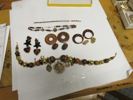 Costume Jewelry ,Vintage ,Necklace (2), Earrings ( 3), Smiling Sun Dial ... - $84.15