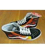 Vans Mens Sk8-Hi Reissue Flame Black Orange True White Skate shoes Size ... - $64.34