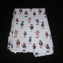 Ralph Lauren RLL Polo Teddy Bear Twin Blue Striped Top Flat Cotton Sheet - $16.39
