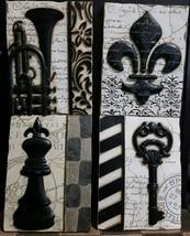 New View Gift Accessories 4 Piece Plastic Sephia Victorian Wall Decor - $74.25