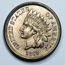 1860 Indian Head Cent Penny Coin Lot 519-109 image 1