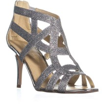 Marc Fisher Nala3 Strappy Dress Sandals, Silver, 5.5 US - $27.83