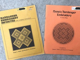Hardanger Embroidery Favorites Book 1 + Anna's Book Pattern Lot Meier & ... - $27.72