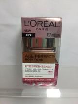 L'Oreal Eye Brightener Creme Care Age Perfect Rosy Tone Dark Circles .5oz - $8.90