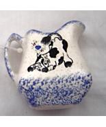 New Milk Pitcher Shaped Toothpick Holder Hand painted Cow DP Creations - £10.97 GBP