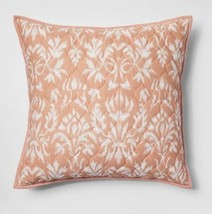 "1 Threshold Coral Floral Euro Pillow Sham New 26""x26"" - $19.35"