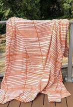 IKEA FULL QUEEN Duvet Cover Odestrad Orange White Cotton Blend Stripes A... - $19.79