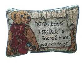 Adorable Boyd's Bears And Friends Embroidered Pillow Bears & Hares You C... - $17.81