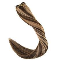 "Easyouth Natural Hair Weft Remy Human Hair Sew in Hair Extensions 14"", 70g, Colo image 5"