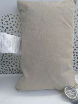 "Gold Metallic Embroidered Lumbar Pillow Fieldcrest 12"" x 18"" Feather Down Fill image 10"