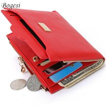 New Top Brand Fashion Zipper Leather Coin Card Holder Photo Holders Women - $11.11