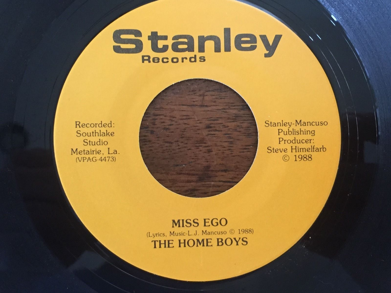 New Orleans Saints STANLEY Records Miss Ego/I'm A Believer The Home Boys 45