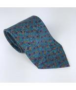 Christian Dior Monsieur Men's Tie Necktie Blue Orange Purple Polyester - $12.74