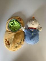 Manhattan Toy Snuggle Pod Plush Blue Doll Lil Peanut Lovie - $14.80