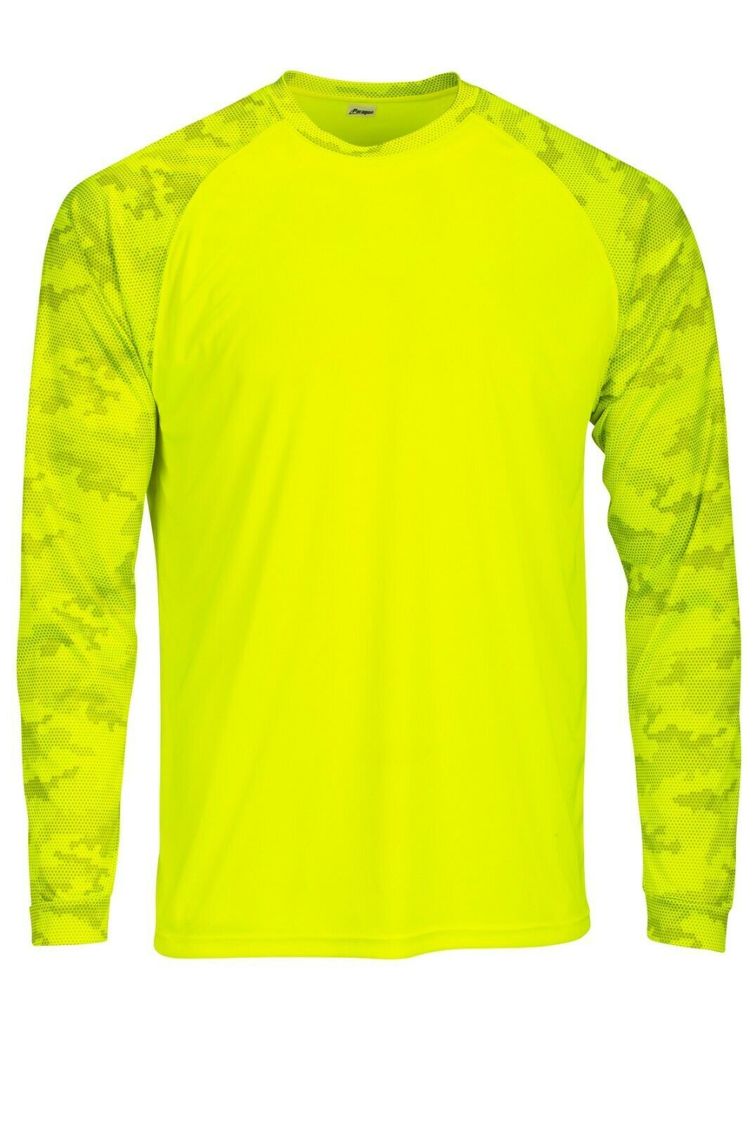 Sun Protection Long Sleeve Dri Fit Safety Neon Green shirt Camo Sleeve SPF 50+