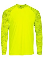 Sun Protection Long Sleeve Dri Fit Safety Neon Green shirt Camo Sleeve SPF 50+ image 1