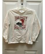 The Salty Dog Cafe Christmas Santa hat Long Sleeve T Shirt Youth Large - $14.36