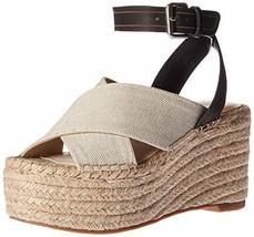 Dolce Vita Women's CARSIE Wedge Sandal, Natural Fabric, 10 M US - $39.99