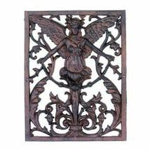 Gorgeous Gothic Style Iron Angel Cherub Wall Sculpture Decor,15.5''H. - $94.05