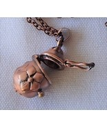 Antique Copper Finish Egg Shaped Keepsake Locket Necklace Treasure Praye... - $17.99